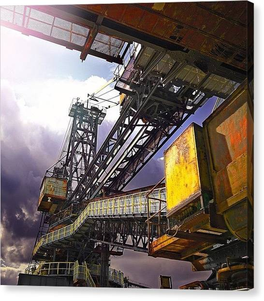 Detail Canvas Print - #sky #architecture #industrie #summer by Phil Grubers