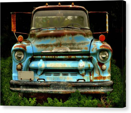 Sky Blue And Still Cool Canvas Print