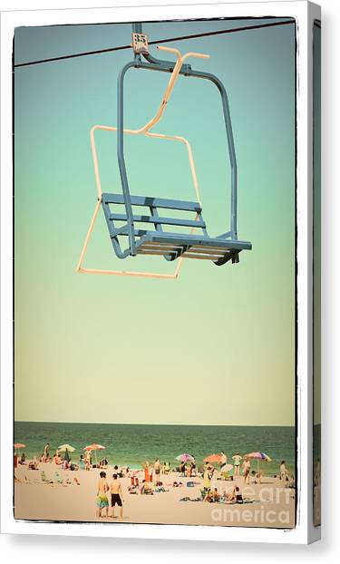 Casino Pier Canvas Print - Sky Blue - Sky Ride by Colleen Kammerer