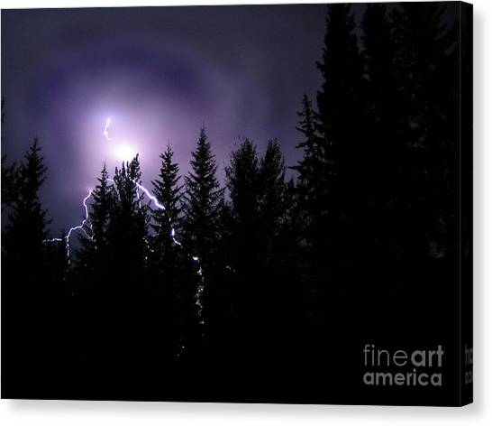 Sky Bolt Canvas Print