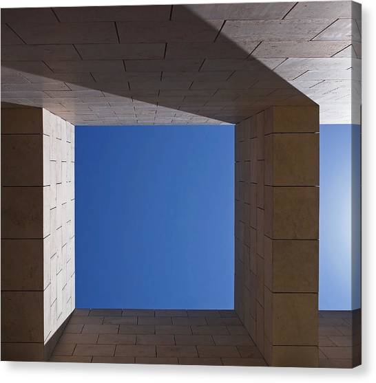 Sky Box At The Getty  Canvas Print