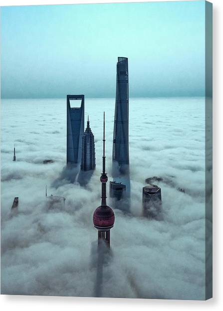 China Canvas Print - Sky City by Stan Huang