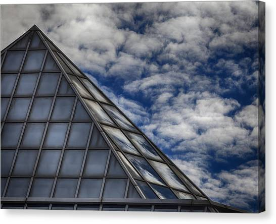Sky Clouds And Glass Canvas Print by Robert Ullmann
