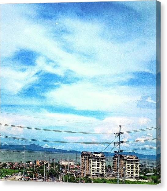 Lake Sunsets Canvas Print - #sky #clouds #blue #view #alabang by Ram Cartney Cortez
