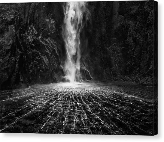 Flowing Canvas Print - Sky Fall by Fei Shi