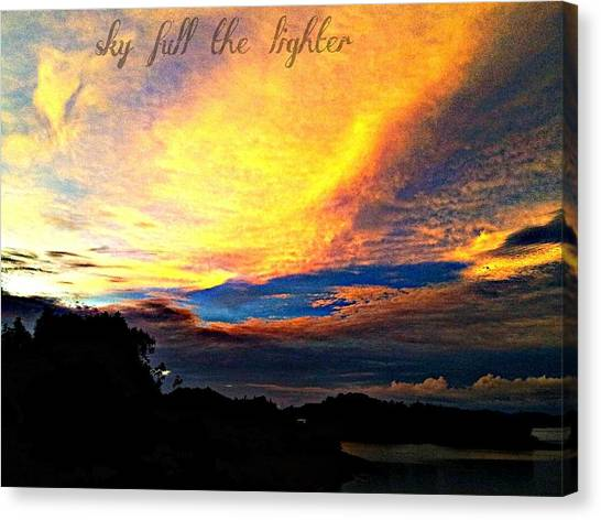 Sky Full The Lighter Canvas Print by Thepride