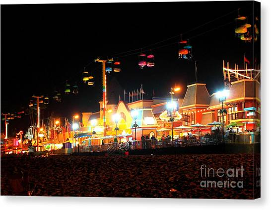 Sky Glider @ Night Canvas Print