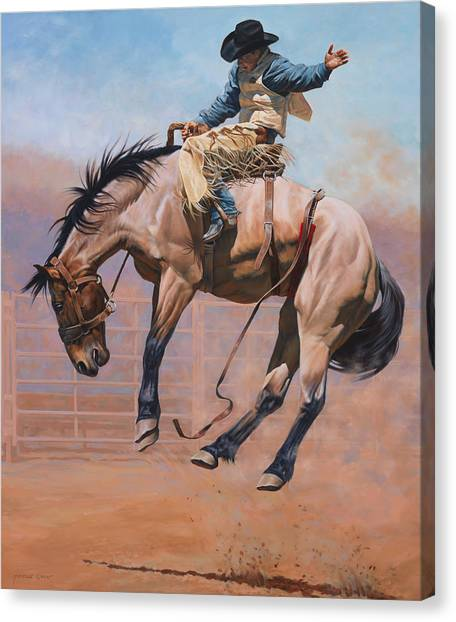Horses Canvas Print - Sky High by JQ Licensing