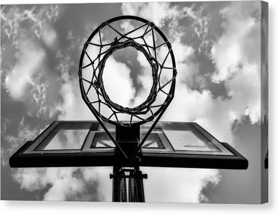 Sky Hoop Basketball Time Canvas Print