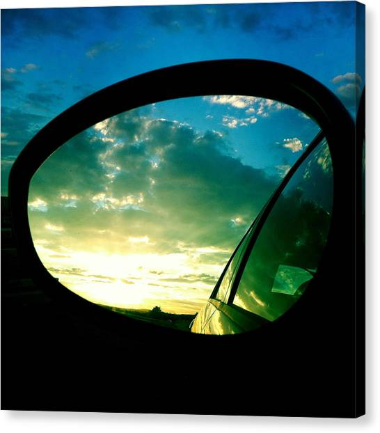 Sky Canvas Print - Sky In The Rear Mirror by Matthias Hauser