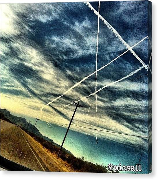 Jets Canvas Print - Sky Lines  by Star Rodriguez