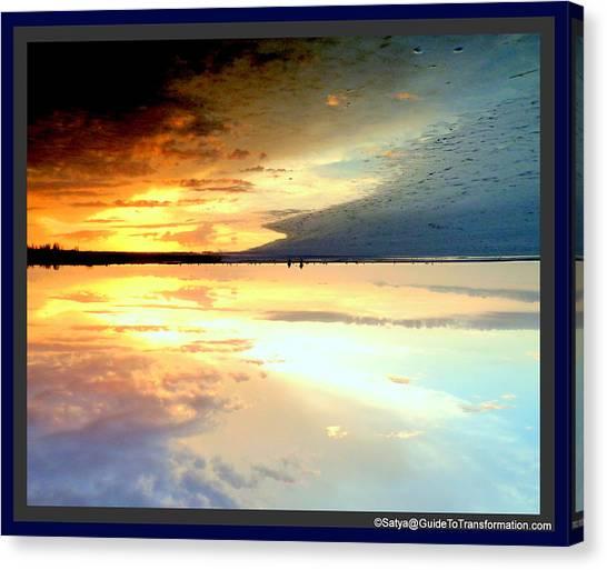 Sky Meets Water Canvas Print by Satya Winkelman