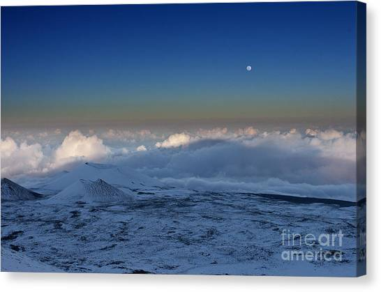 Sky Moon Canvas Print by Karl Voss