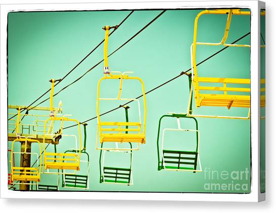 Casino Pier Canvas Print - Sky Ride #41 by Colleen Kammerer