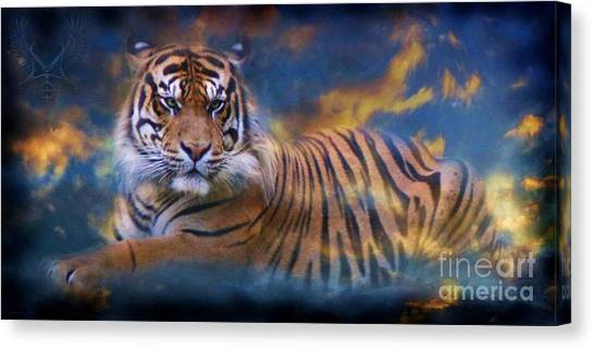 University Of Memphis Canvas Print - H Sky Tiger by Dale Crum
