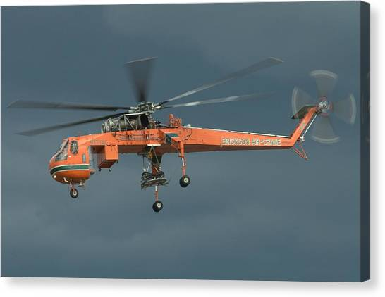 Skycrane Canvas Print - Skycrane by Jeff Cook