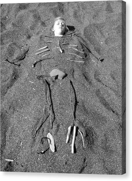 Skye Skeleton Canvas Print