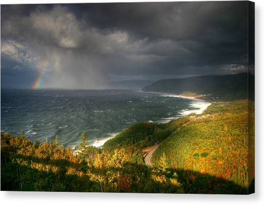 Cabot Trail Canvas Print - Skyfall by Photo ©tan Yilmaz