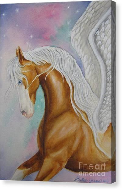 Skyhorse Aurora Canvas Print by Louise Green