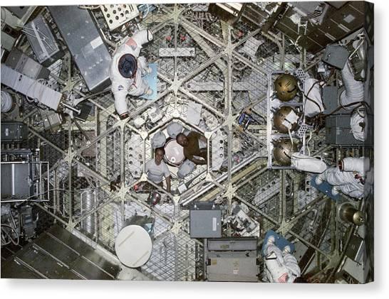 Space Suit Canvas Print - Skylab 4 Crew by Nasa