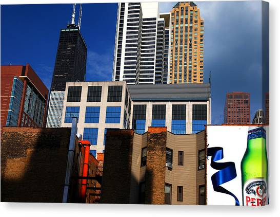 Skyline Building Blocks Canvas Print