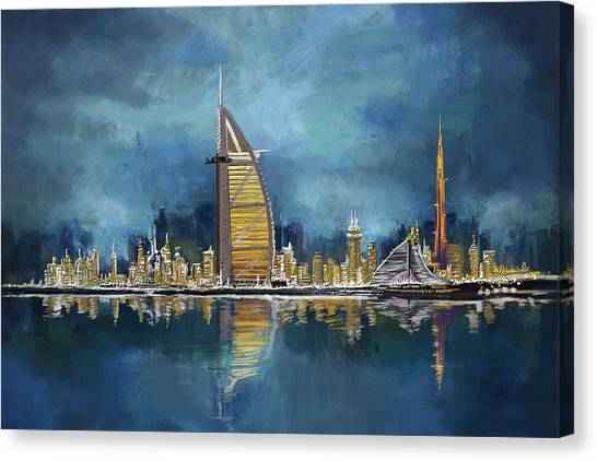 Arabian Desert Canvas Print - Skyline Burj-ul-khalifa  by Corporate Art Task Force