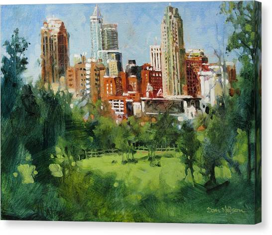 Skyline From Dix Hill Canvas Print