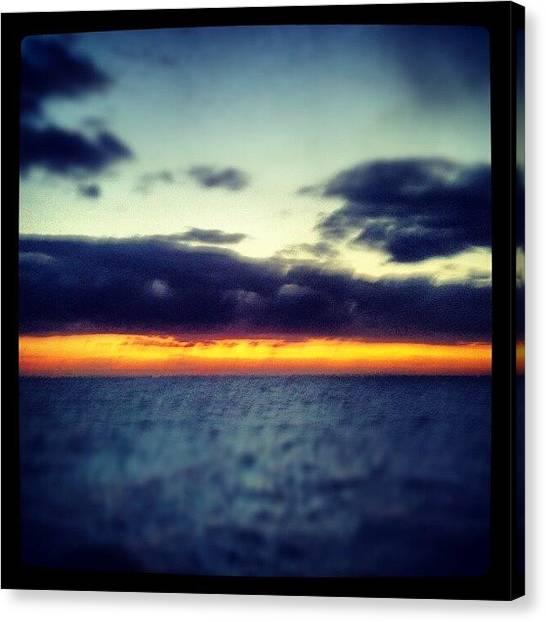 Sunrise Horizon Canvas Print - Skyline by Michael Henderson