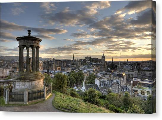 Skyline Of Edinburgh Scotland Canvas Print