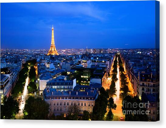 Skyline Of Paris Canvas Print