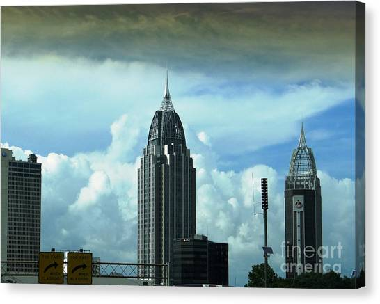 Skyline Over  Mobile Canvas Print