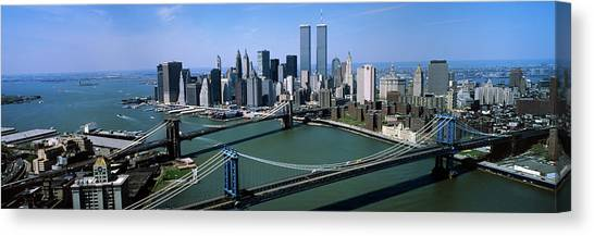 Terrorist Canvas Print - Skyline Showing World Trade Center by Vintage Images