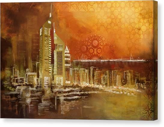 Dubai Skyline Canvas Print - Skyline View  by Corporate Art Task Force