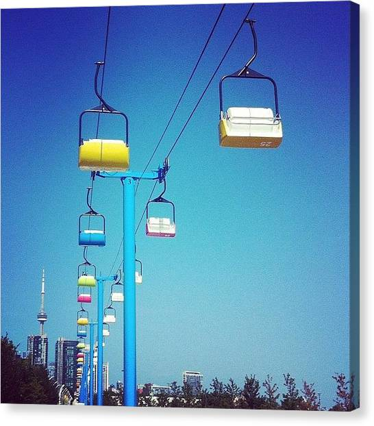 Toronto Skyline Canvas Print - Skyride @ The Ex - #candyforcouples by Ben Quinn