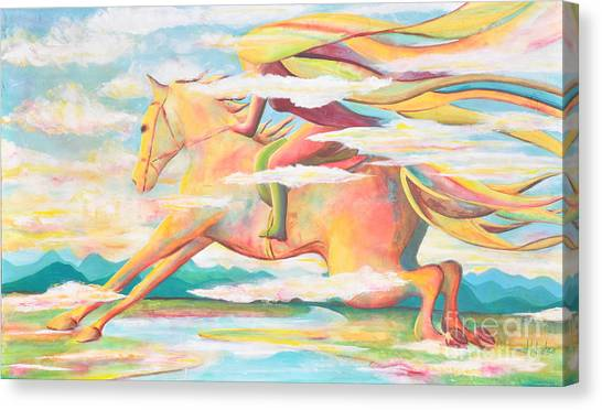 Skyrider Canvas Print