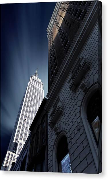 Manhattan Canvas Print - Skyscraper by Sebastien Del Grosso