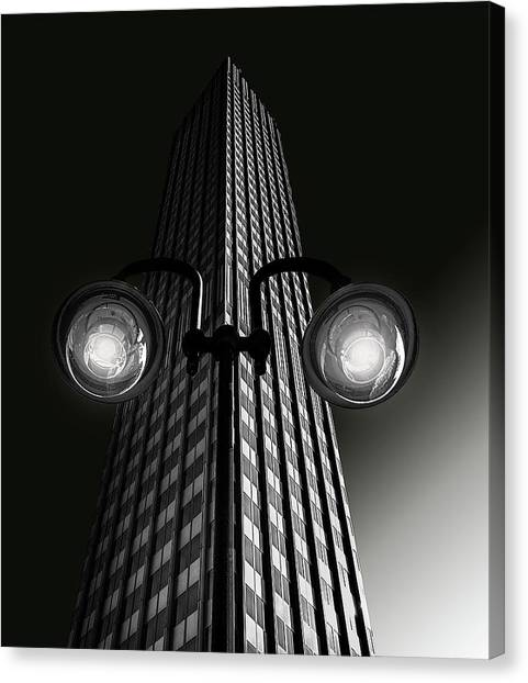 Street Canvas Print - Skyscraper With Glasses by Anette Ohlendorf
