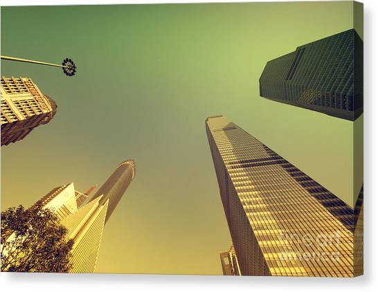 Canvas Print featuring the photograph Skyscraper by Yew Kwang