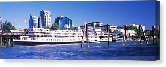 Sacramento Kings Canvas Print - Skyscrapers At The Waterfront, Delta by Panoramic Images