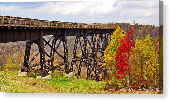 Skywalk Kinzua Bridge State Park Mckean County Pennsylvania Canvas Print