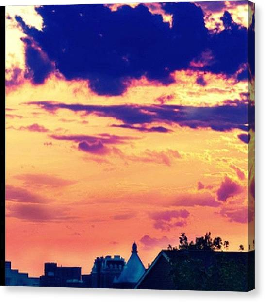 Ravens Canvas Print - #skywatch #sky #baltimore #clouds by Artondra Hall