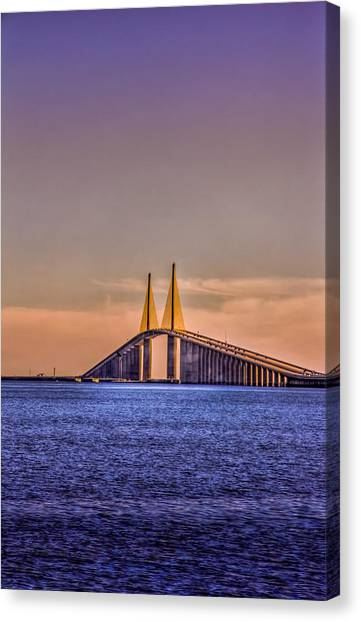 Interstates Canvas Print - Skyway Sunset by Marvin Spates