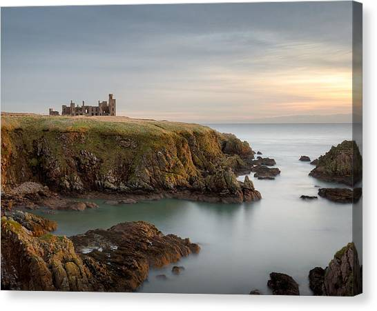 Fortification Canvas Print - Slains Castle Sunrise by Dave Bowman