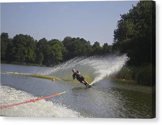 Slalom Waterskiing Canvas Print