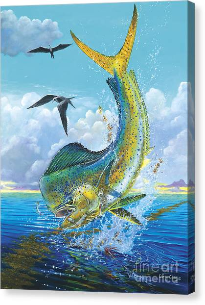 Miami Dolphins Canvas Print - Slammer Off0017 by Carey Chen