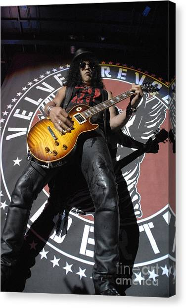 Slash Guitarist Canvas Print