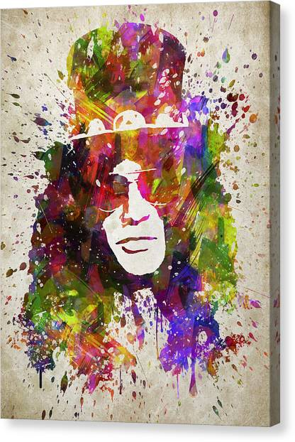 Guns N Roses Canvas Print - Slash In Color by Aged Pixel
