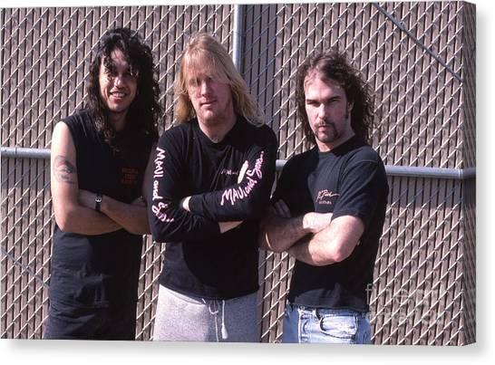 Jeff Hanneman Canvas Print - Slayer 02 by David Plastik