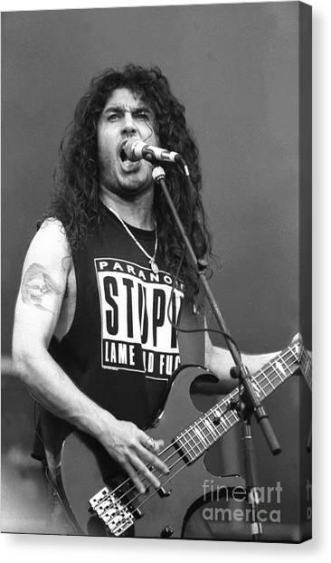 Jeff Hanneman Canvas Print - Slayer Tom Araya  by Concert Photos