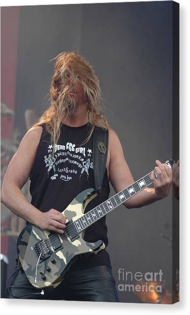 Jeff Hanneman Canvas Print - Slayer- Jeff Hanneman by Jenny Potter